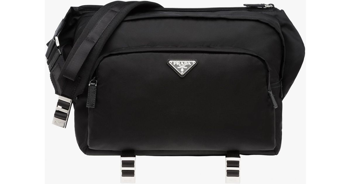 ea3cd78508 Lyst - Prada Messenger Bag in Black for Men