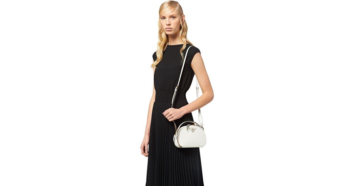 de4b1de21 Prada Odette Saffiano Leather Bag - Lyst