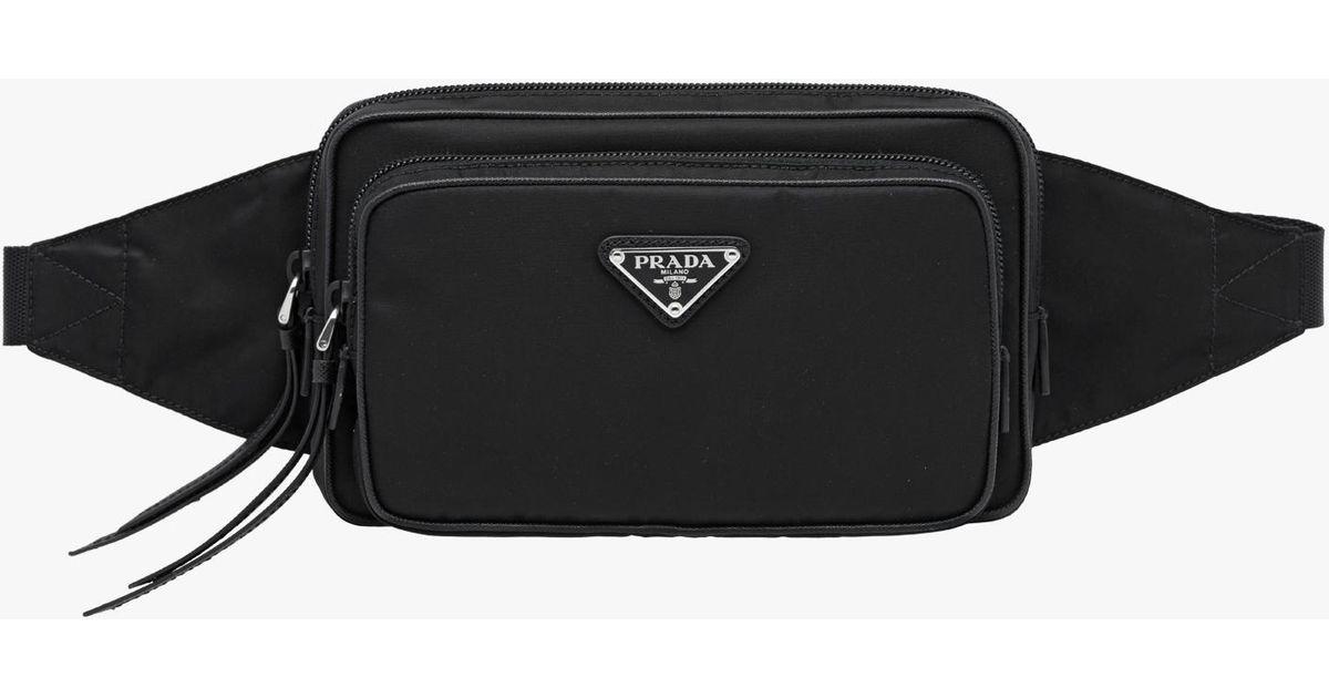 11938fa2d090b Prada Nylon And Leather Belt Bag in Black for Men - Lyst