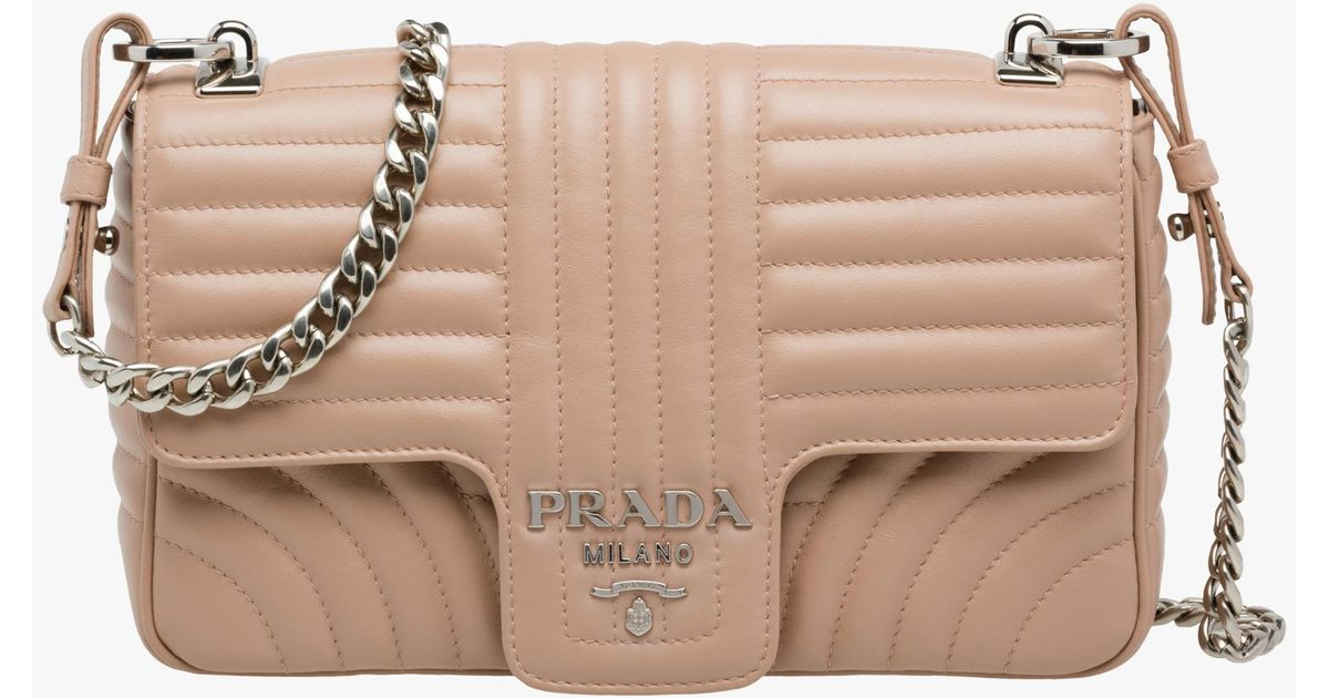 f90cd76eef Lyst - Prada Diagramme Leather Shoulder Bag