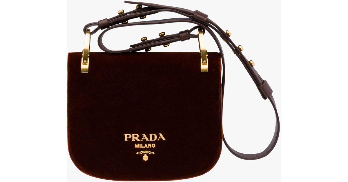 9a9fff78d5527c Prada Pionnière Bag in Brown - Lyst