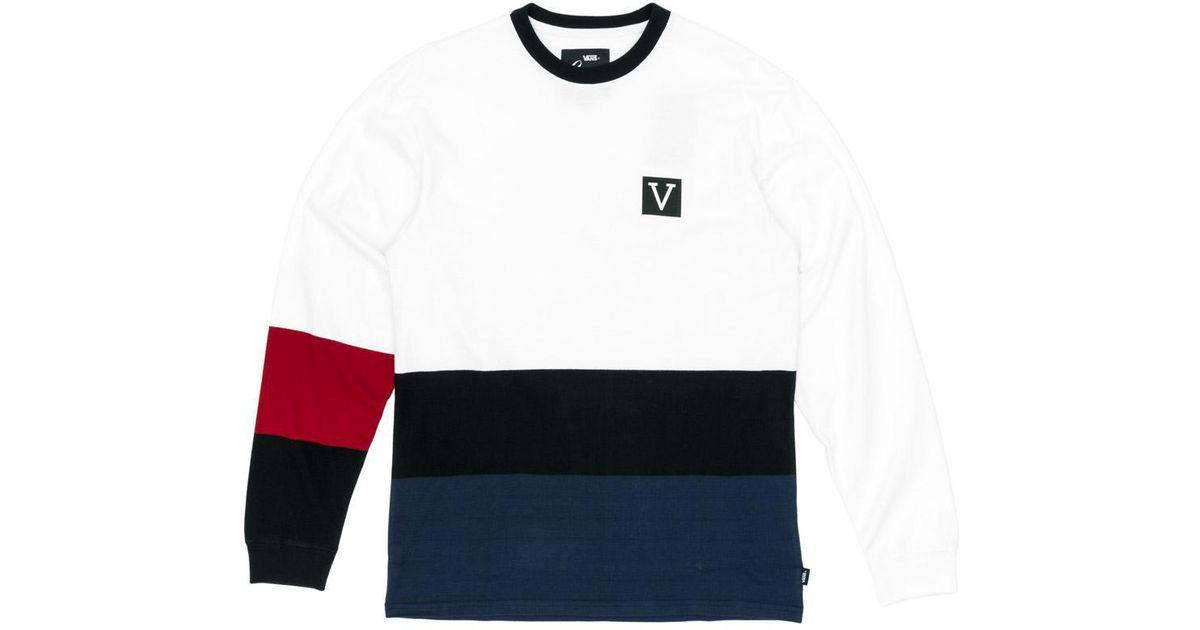 949822512 Lyst - Vans Chima Colourblock Longsleeve T-shirt in White for Men