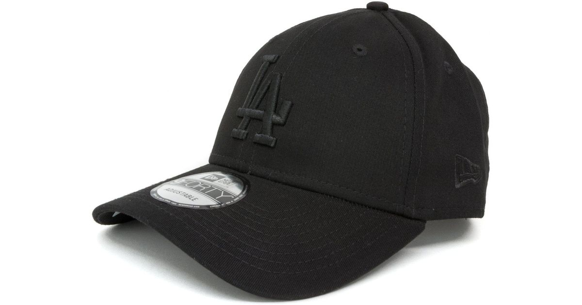 d3d16f42f08 Lyst - Ktz Los Angeles Dodgers Essential 9forty Cap in Black for Men