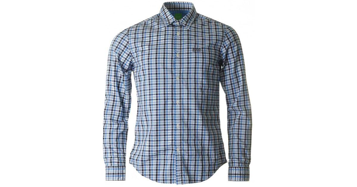 Hugo Boss Bise Dobby Pattern Long-Sleeve Button-Down Shirt