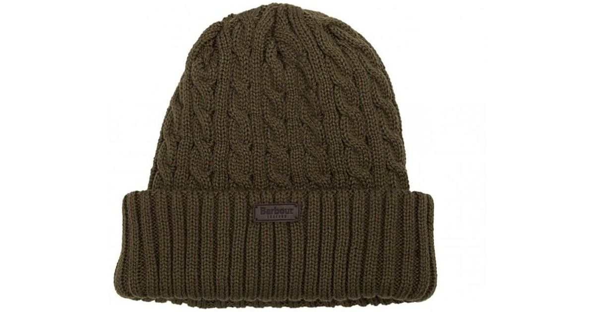 a8a9ef24725717 Barbour Balfron Cable Knit Beanie Hat in Green for Men - Lyst