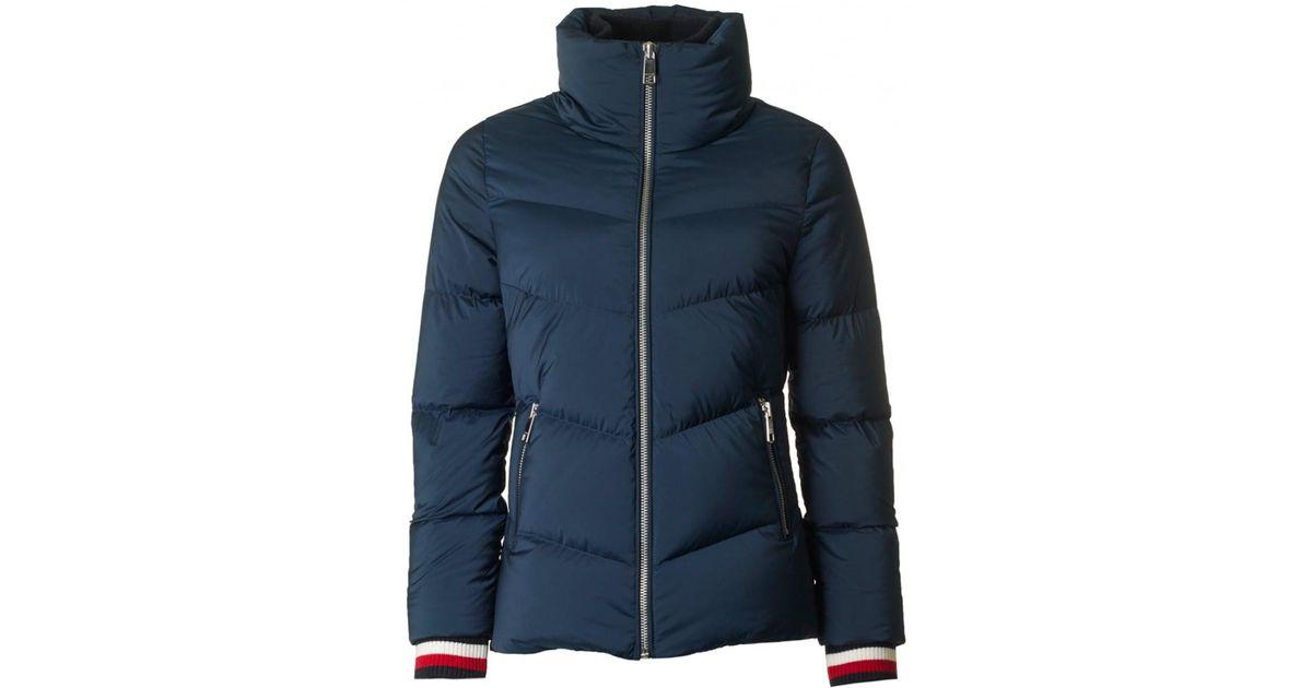 cdc9d21eff15 Tommy Hilfiger Callie Icon Down Jacket in Blue - Lyst