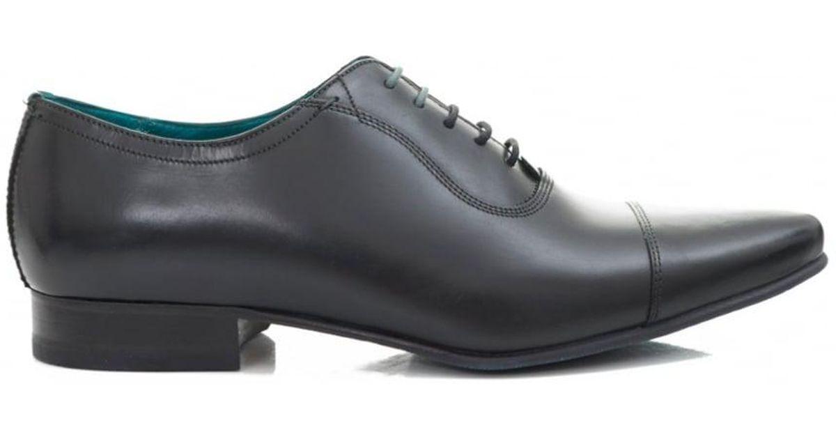 dbaa1e6c071b Ted Baker Karney Toe Cap Shoes in Black for Men - Lyst