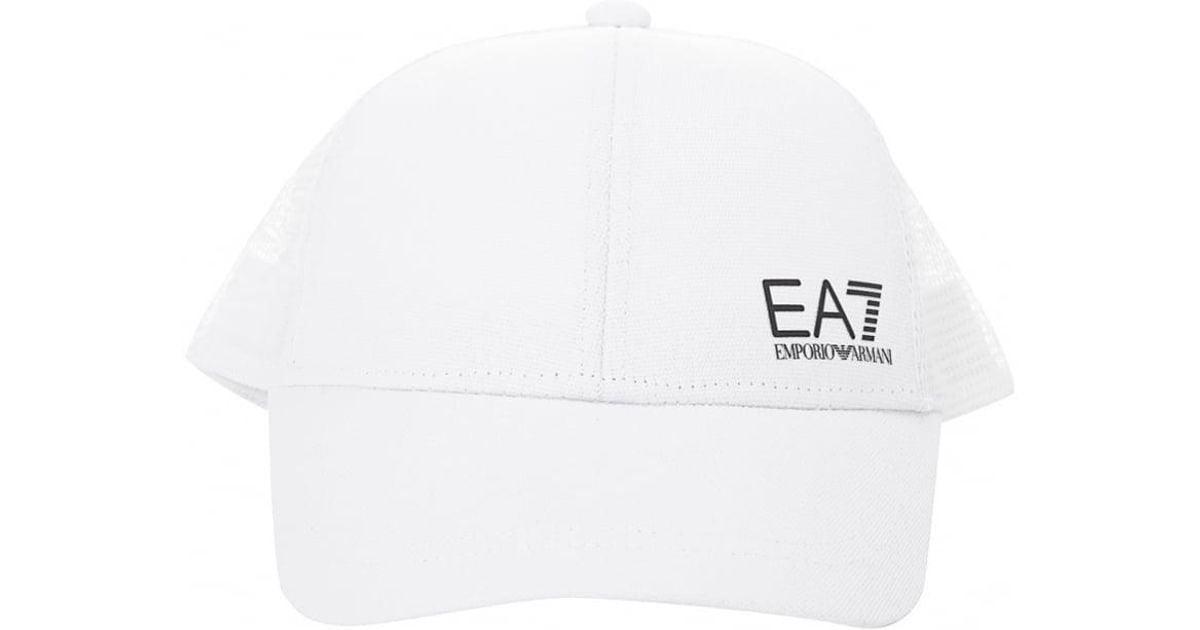 11090381 EA7 Train Core Id Cap in White for Men - Save 3% - Lyst