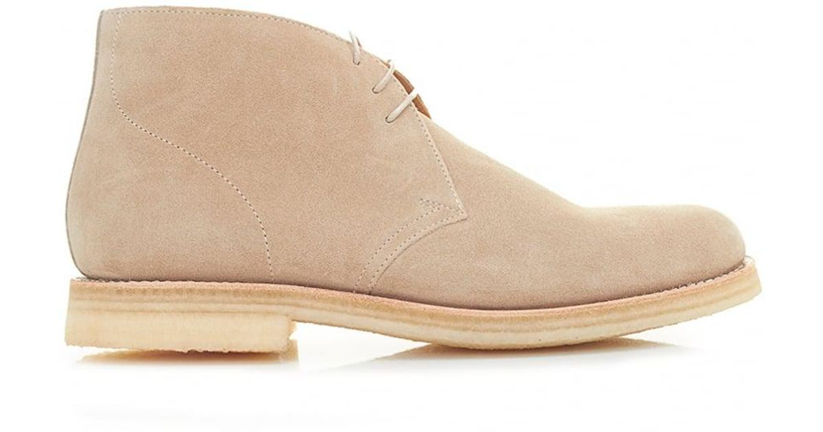 ebfe5d36fa4a82 Lyst - Grenson Oscar Crepe Sole Suede Chukka Boots in Natural for Men