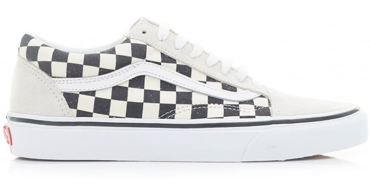 df5a990df38ecf Lyst - Vans Old Skool Mixed Check Trainers in White for Men