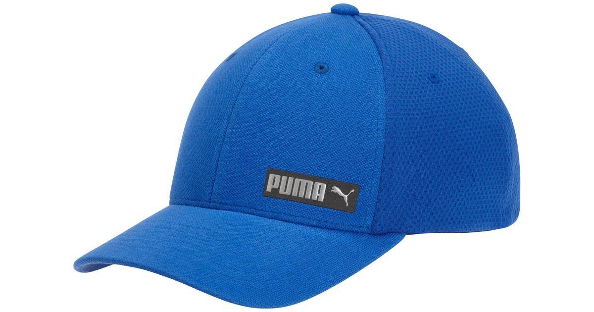 d151ef45fe48e Lyst - Puma Performance Body Flexfit Hat in Blue for Men