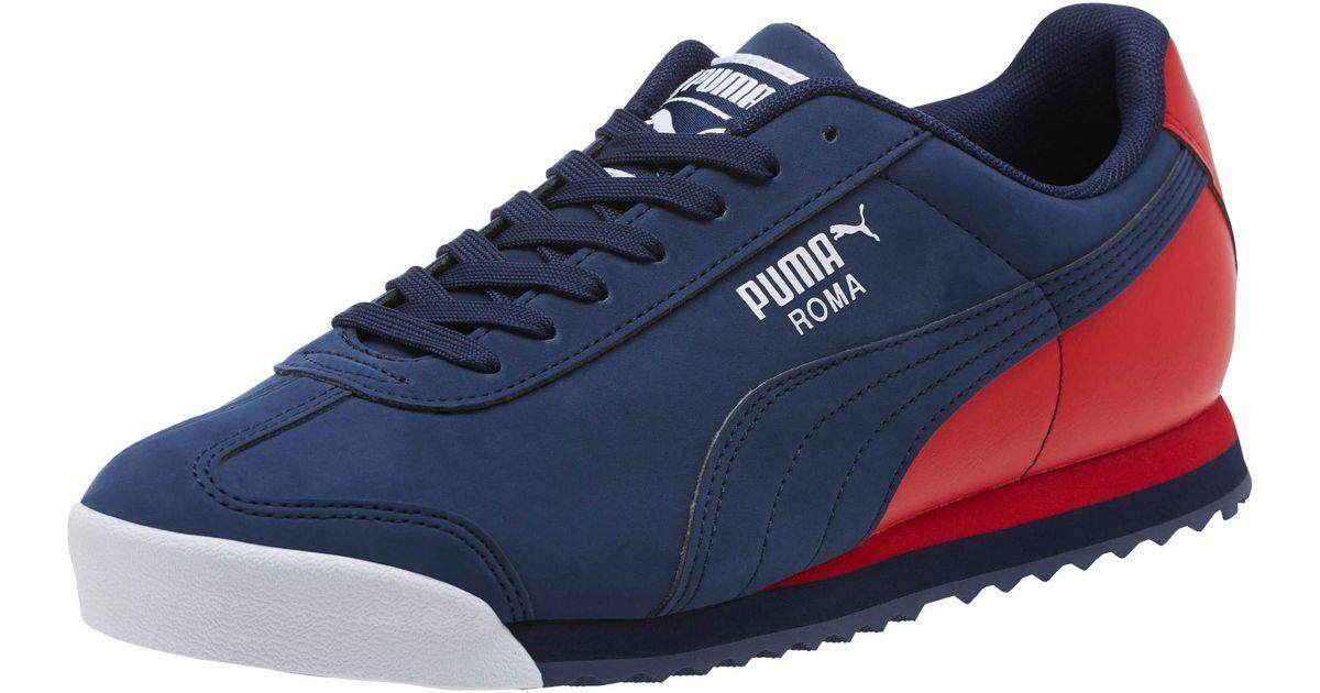 PUMA Blue Roma Retro Sports Men's Sneakers for men