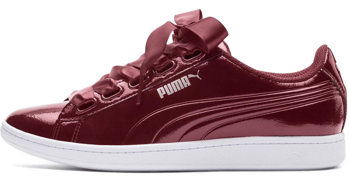 Lyst - PUMA Vikky Ribbon Patent Sneakers in Red - Save 15% d56b5ae1a