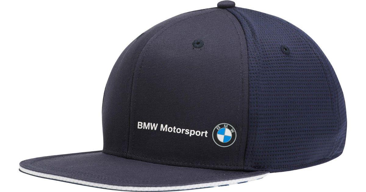 new concept 8da61 06024 PUMA Bmw Motorsport Flatbrim Hat in Blue for Men - Lyst