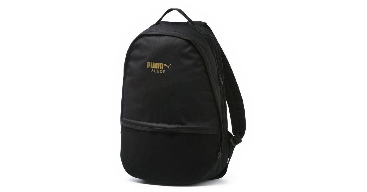 834933659e PUMA Suede Backpack in Black for Men - Lyst