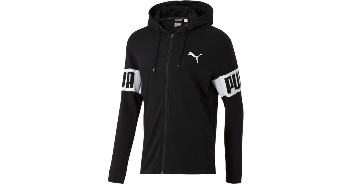 1bd4e80fe69d Lyst - PUMA Men s Rebel Full Zip Hoodie in Black for Men