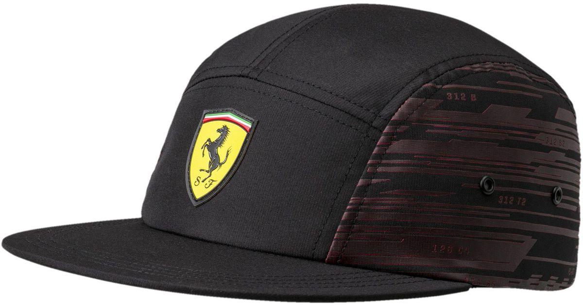 1f7db3289ce Lyst - PUMA Ferrari Transform Hat in Black for Men