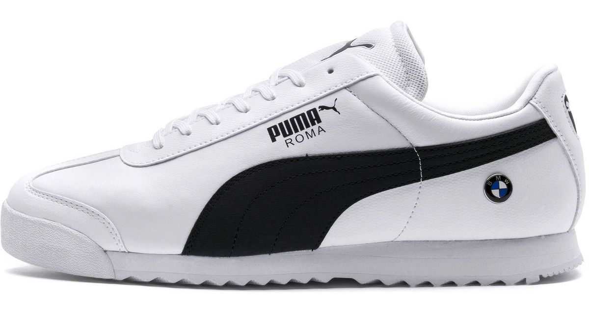 9381f55c3 PUMA Bmw Roma Sneaker in White for Men - Save 14% - Lyst
