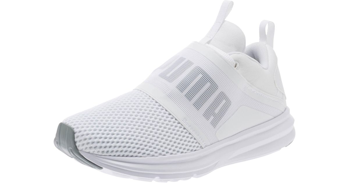 300d51a2436c Lyst - PUMA Enzo Strap Women s Running Shoes in White