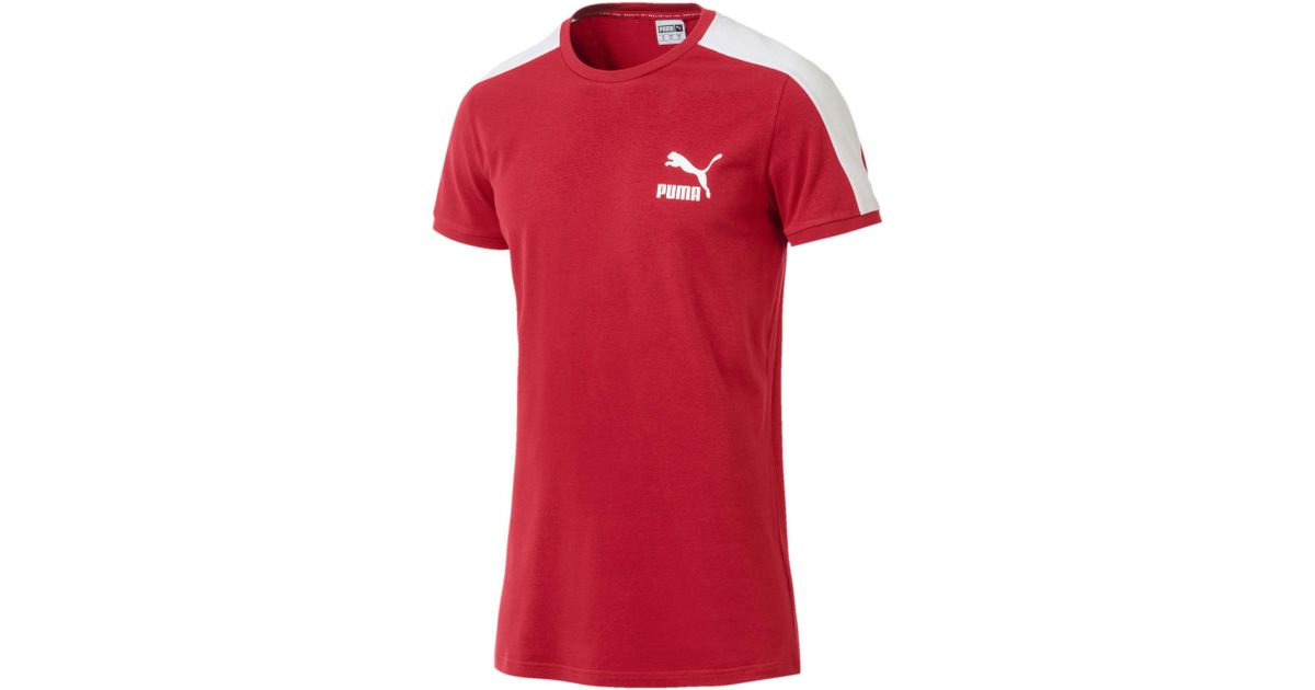 ... Lyst - Puma Classics Slim T7 Men s Tee in Red for Men where can i ... 360b95e60