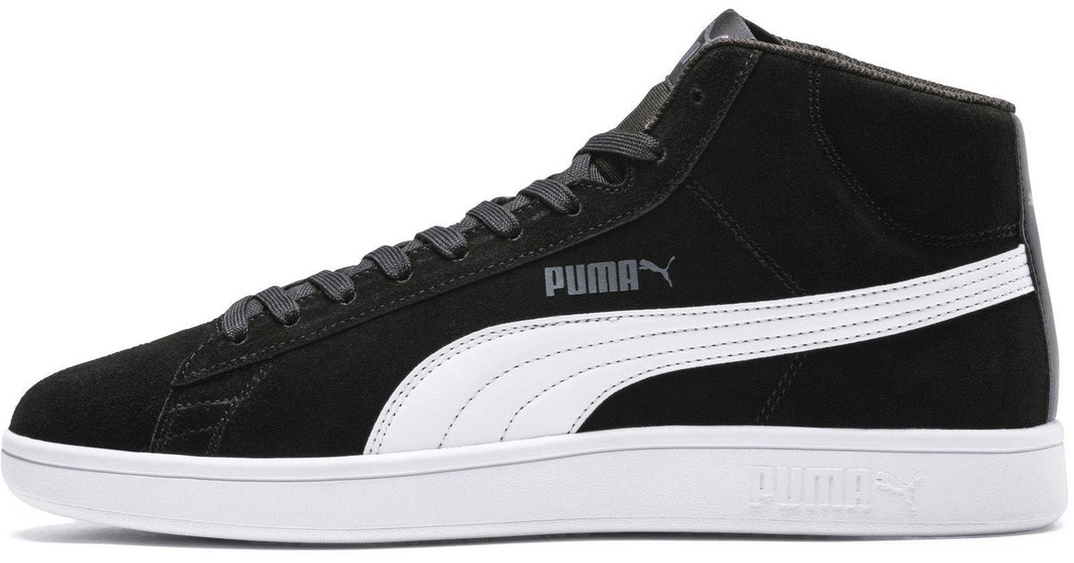 0a63cd537b65 Lyst - Puma Smash V2 Mid Sd Sneakers in Black for Men