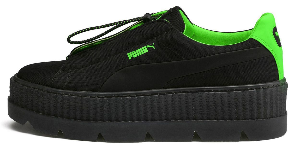 84257b3142a41f Lyst - PUMA Fenty Women s Cleated Creeper Surf in Green