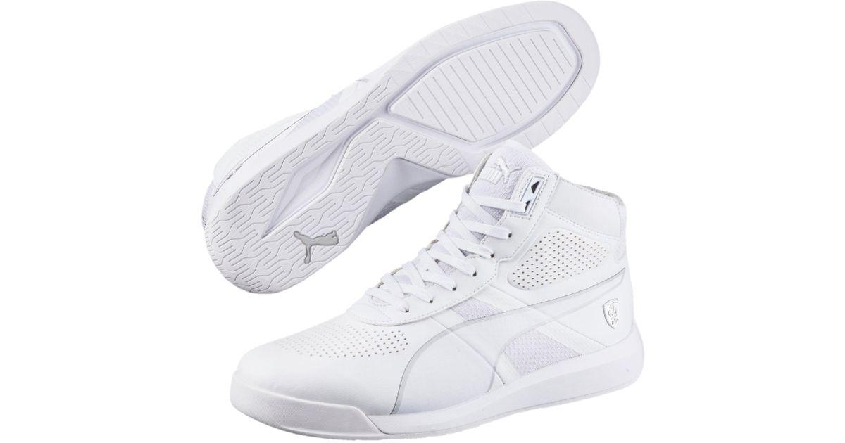 3efb7d0f7b1 Lyst - PUMA Ferrari Podio Mid Men s Shoes in White for Men