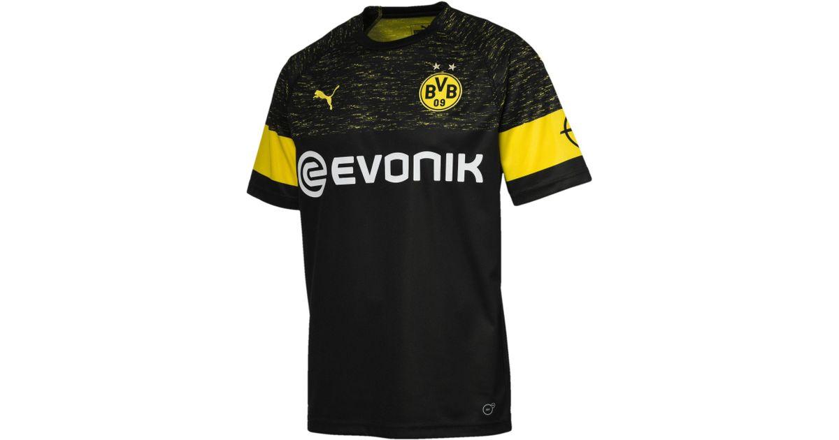 794abd6ffff2 Lyst - PUMA Borussia Dortmund Men s Replica Away Shirt in Black for Men -  Save 12%