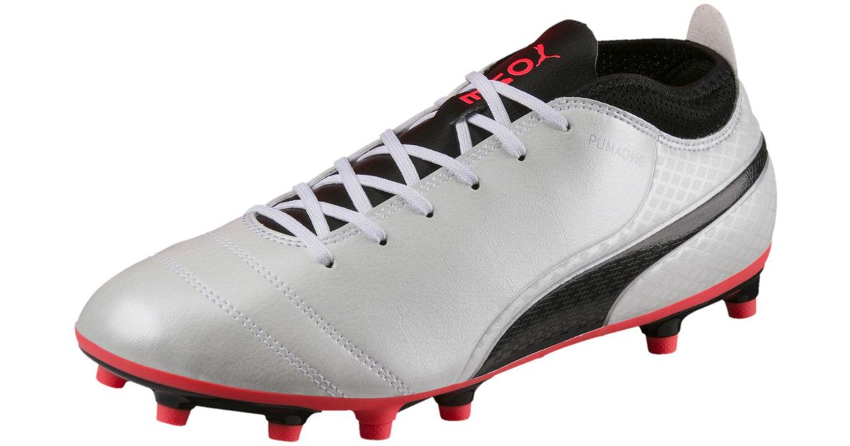 985abffd9 ... uk lyst puma one 17.4 fg mens firm ground soccer cleats in white for  men edba9