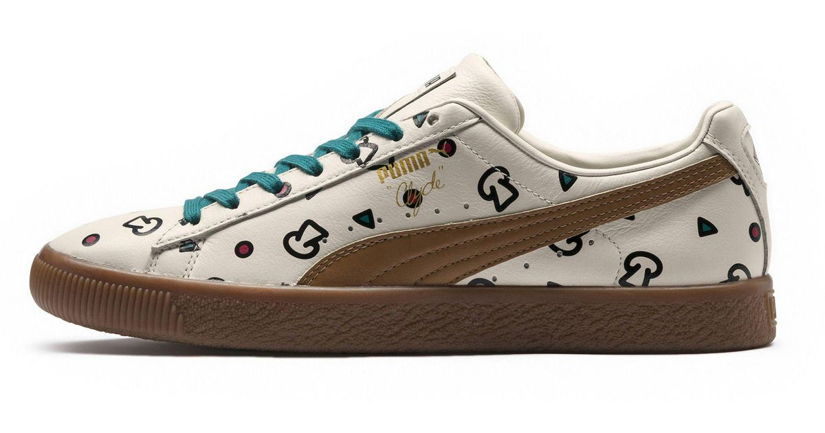 Lyst - PUMA X Tyakasha Clyde Graphic Sneakers for Men 8c5986a4f