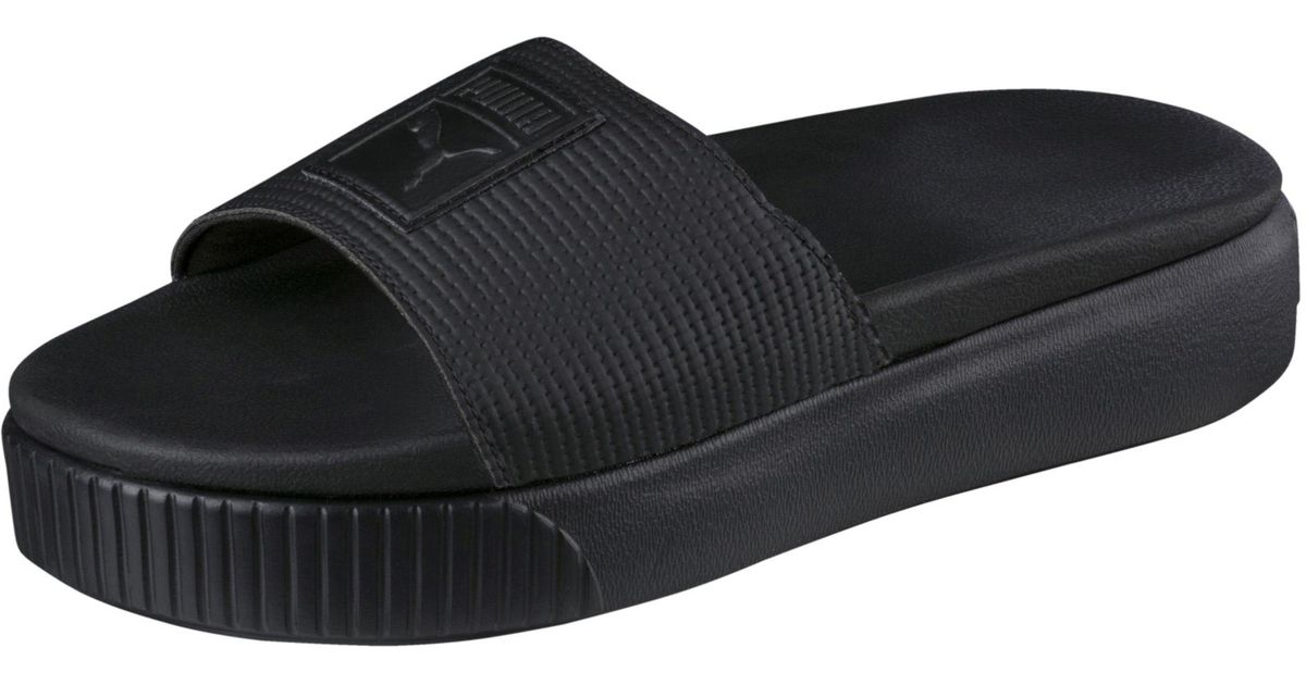 3c061fc7ab4fc9 Lyst - PUMA Platform Slide Ep Women s Sandals in Black
