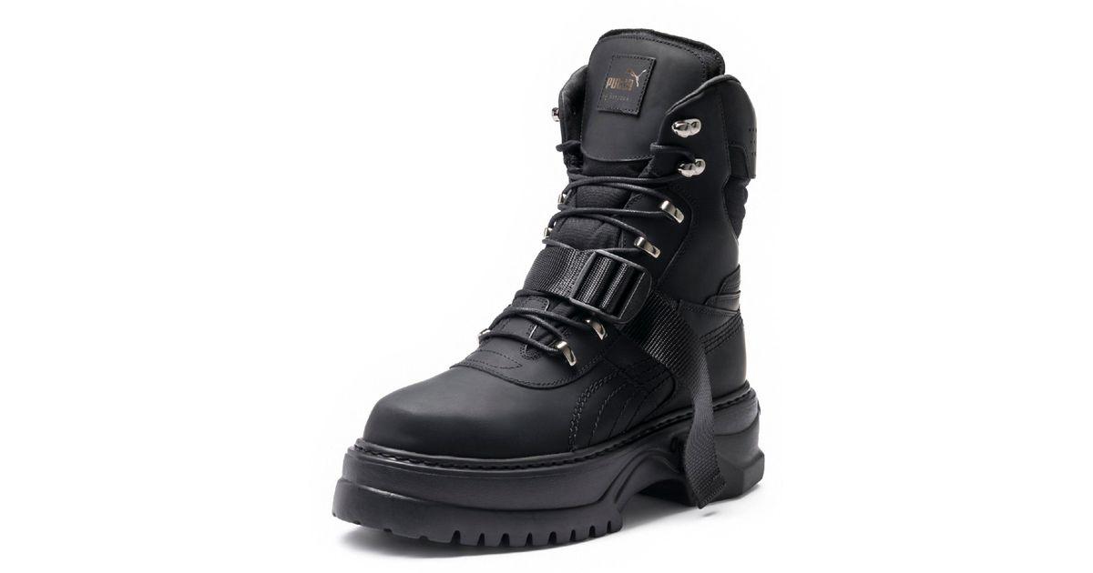 Lyst - PUMA Fenty Women s Winter Boot Nubuck in Black 7b19b8def