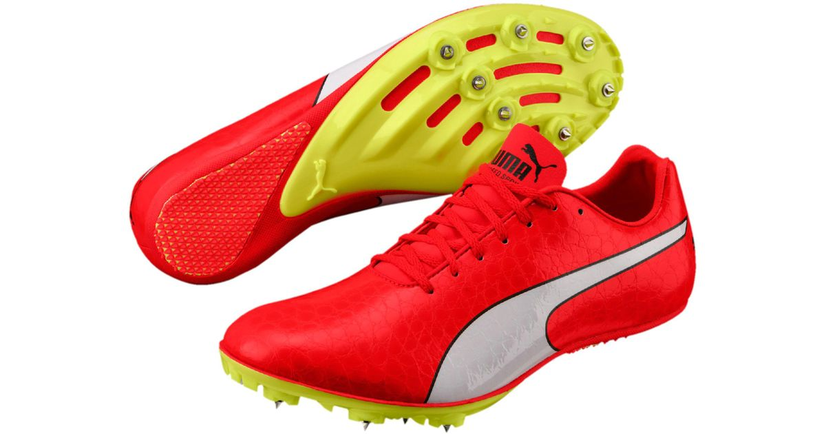 great variety styles cozy fresh great discount PUMA Red Evospeed Sprint 8 Men's Track Spikes for men
