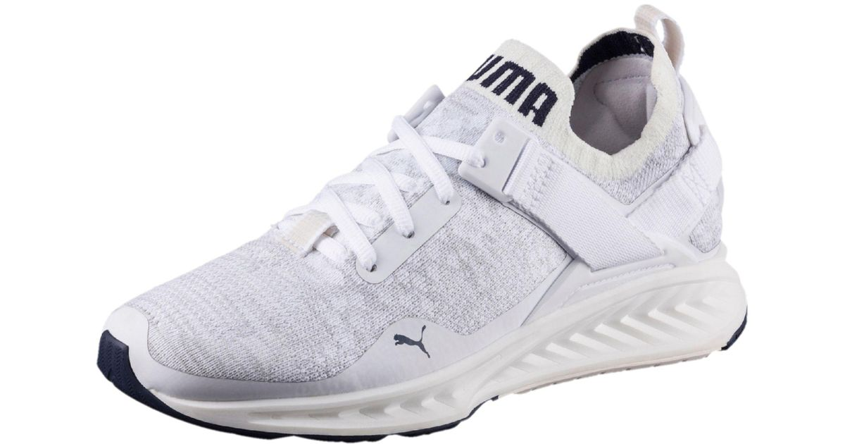4646bbcc7ef Lyst - PUMA Ignite Evoknit Lo Women s Training Shoes in White