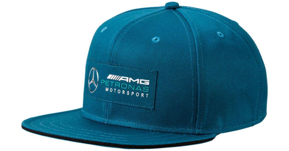 timeless design fb74e 0563d PUMA Mercedes Amg Petronas Motorsport Flatbrim Hat in Blue for Men - Lyst