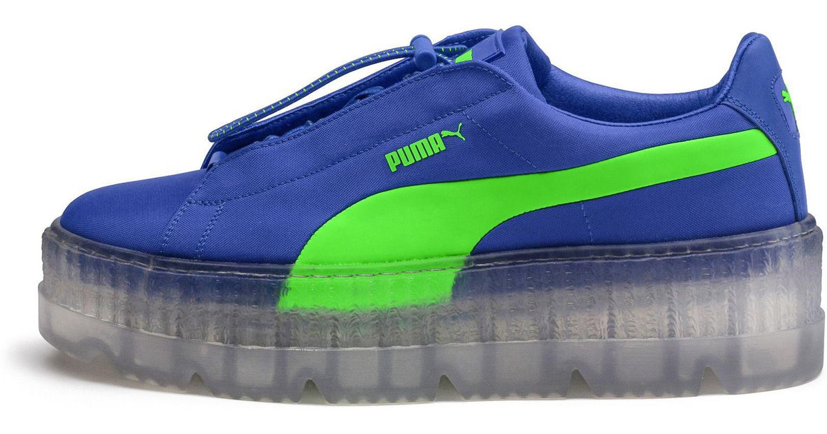 fca224312ab2 Lyst - PUMA Fenty Women s Cleated Creeper Surf in Blue