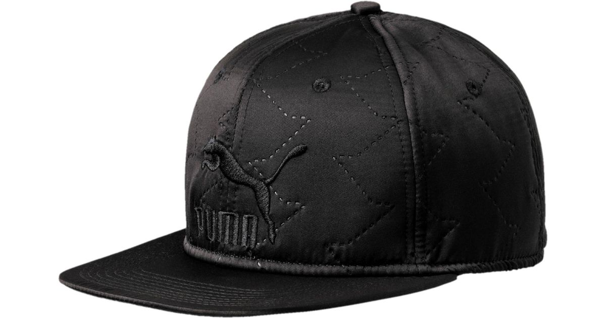 competitive price b63b5 64645 ... where can i buy lyst puma quilted flat brim hat in black for men edfaf  bb03f