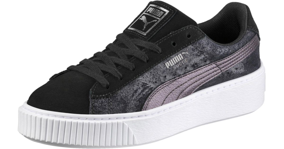 ac19390f76f Lyst - PUMA Suede Platform Metallic Safari Women s Sneakers in Black