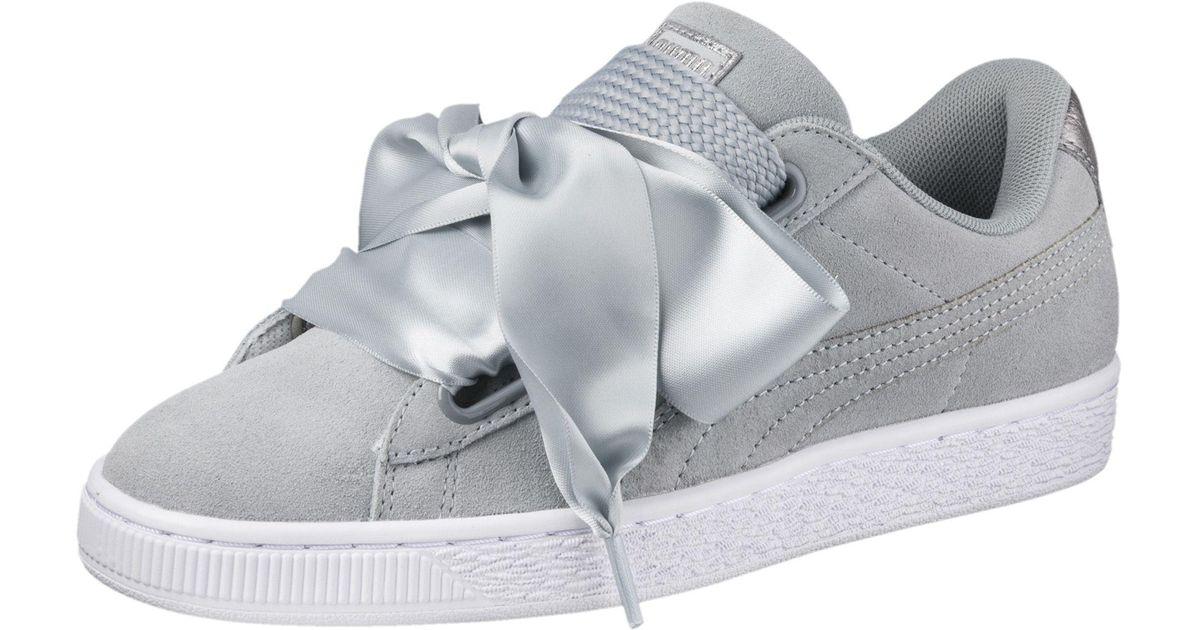 8e329bd4fc3c1a PUMA - Basket Heart Metallic Safari Women s Sneakers - Lyst