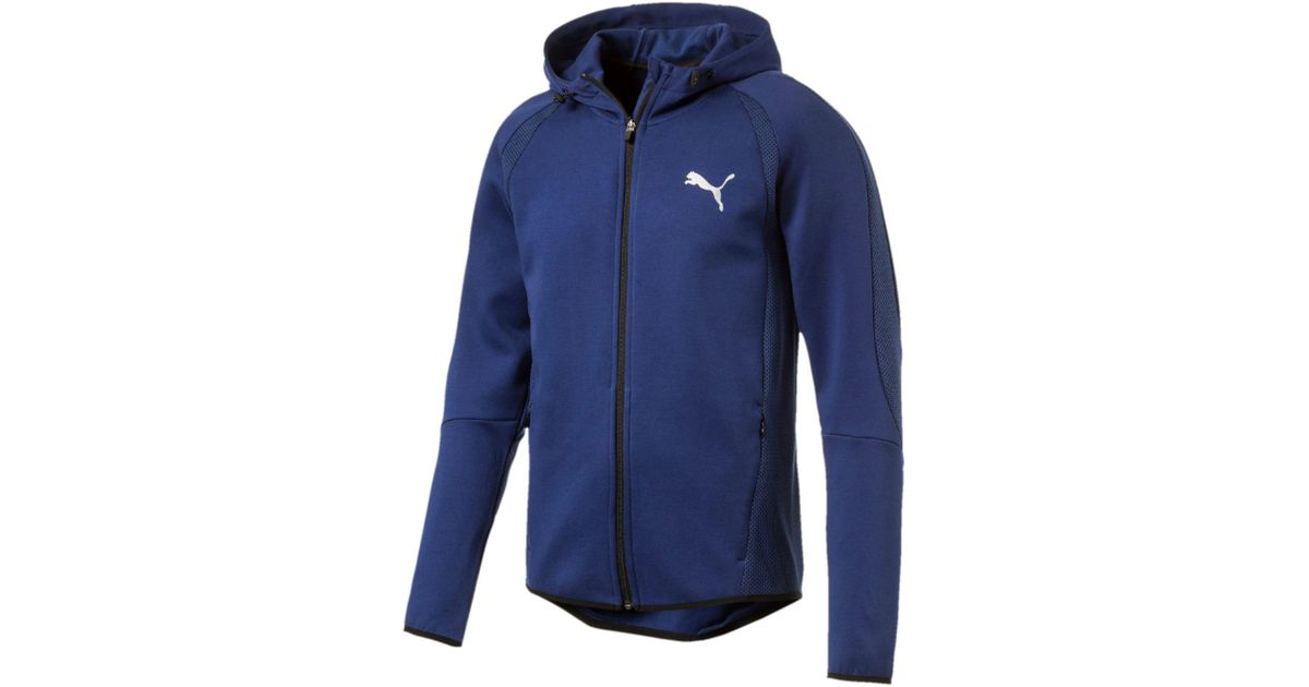 f3fae1bcb27b Lyst - PUMA Active Evostripe Ultimate Full Zip Hoodie in Blue for Men