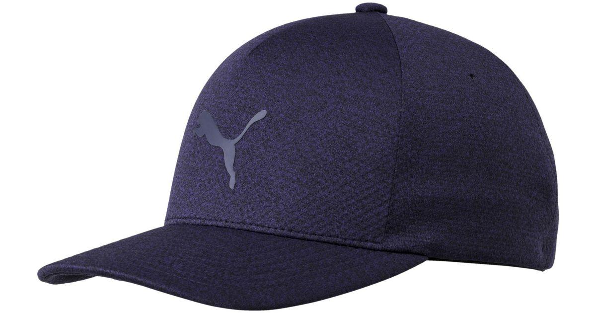 ... denmark lyst puma golf mens evoknit delta flexfit cap in blue for men  f5dc0 bfa3c c54808729eb5