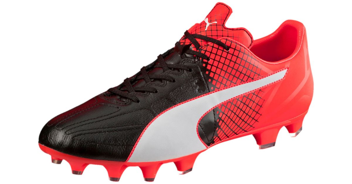 63664c067 PUMA Evospeed 3.5 Leather Fg Men s Firm Ground Soccer Cleats in Black for  Men - Lyst
