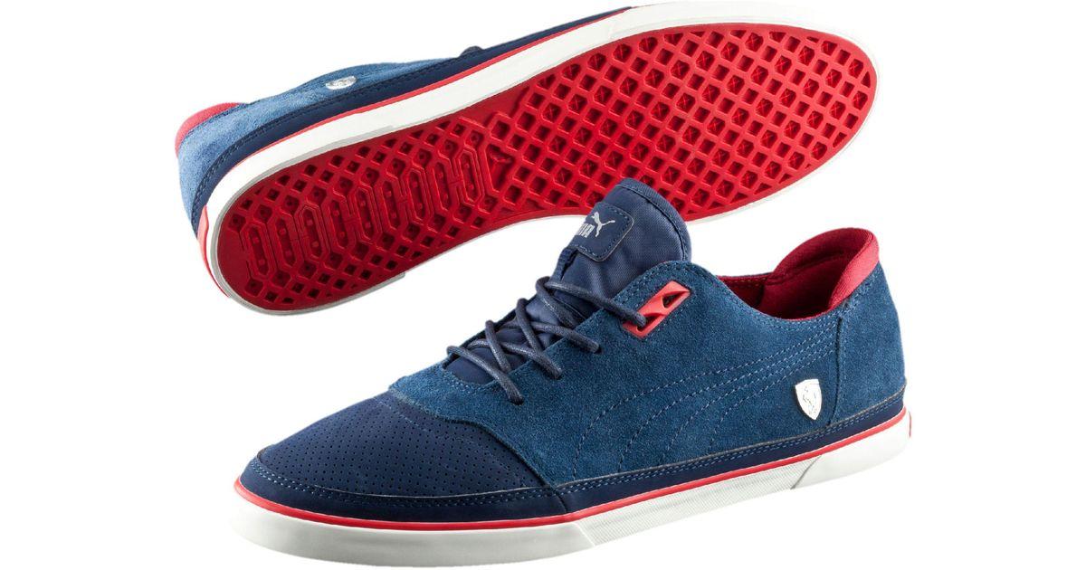 ba4731497c01f3 Lyst - PUMA Ferrari Vulcanized Men s Shoes in Blue for Men