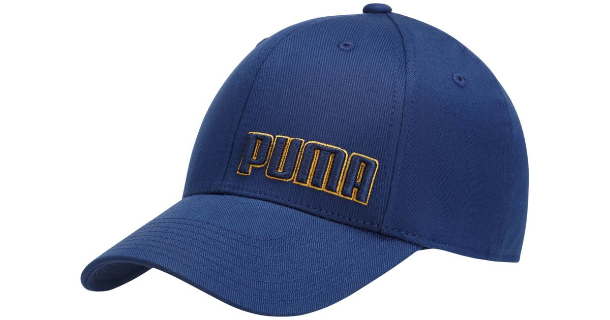 3a357834f6d Lyst - PUMA Gridlock Stretch Fitted Hat in Blue for Men