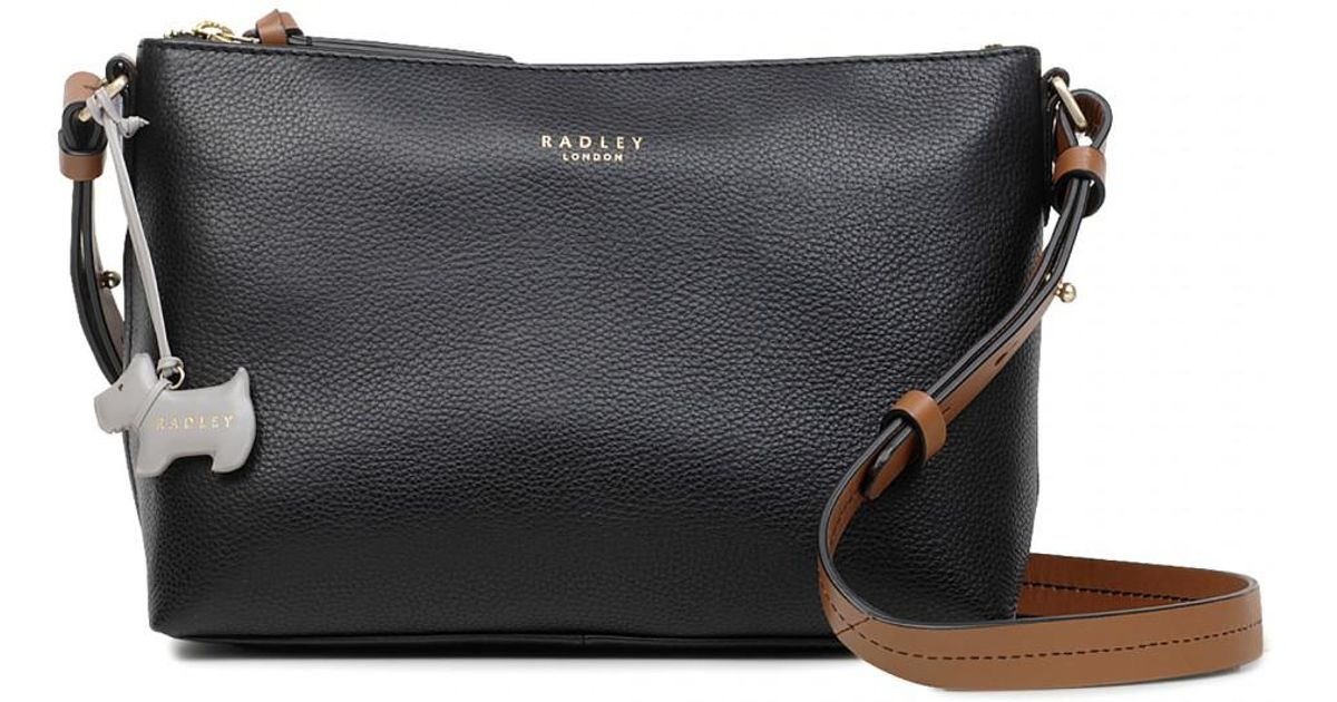 Radley Guildhall Medium Zip-top Cross Body Bag in Black - Lyst 5ccb0c127a06a