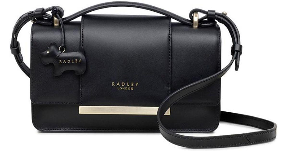 76d99aee5d Radley Godolphin House Small Flapover Cross Body Bag in Black - Lyst