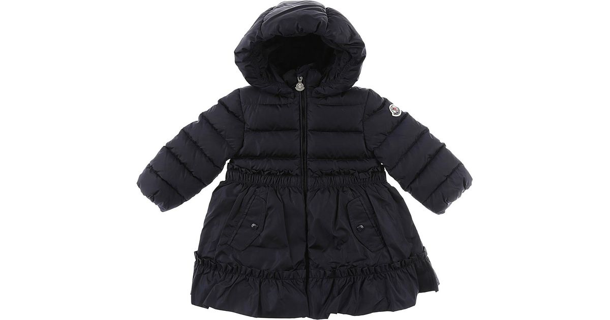 5c0d8a7f6ca5 Lyst - Moncler Baby Down Jacket For Girls in Blue
