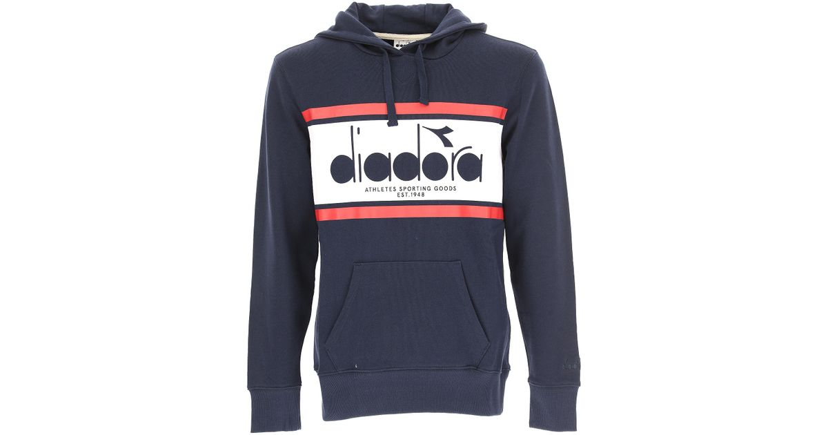 Diadora Blue Sweatshirt for men