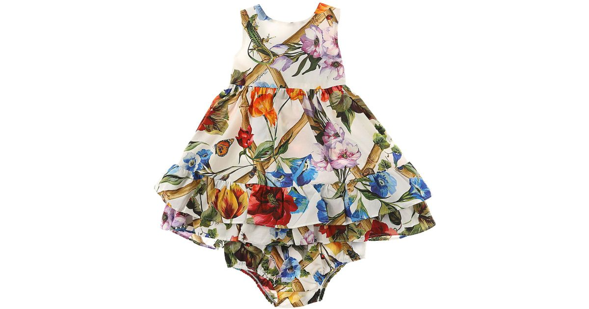 11978344 Dolce & Gabbana Baby Dress For Girls On Sale In Outlet in White - Lyst
