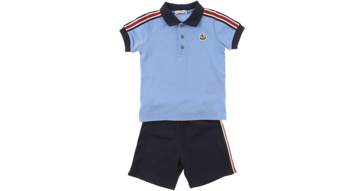 0eb0c89ca04c Lyst - Moncler Baby Sets For Boys On Sale In Outlet in Blue for Men